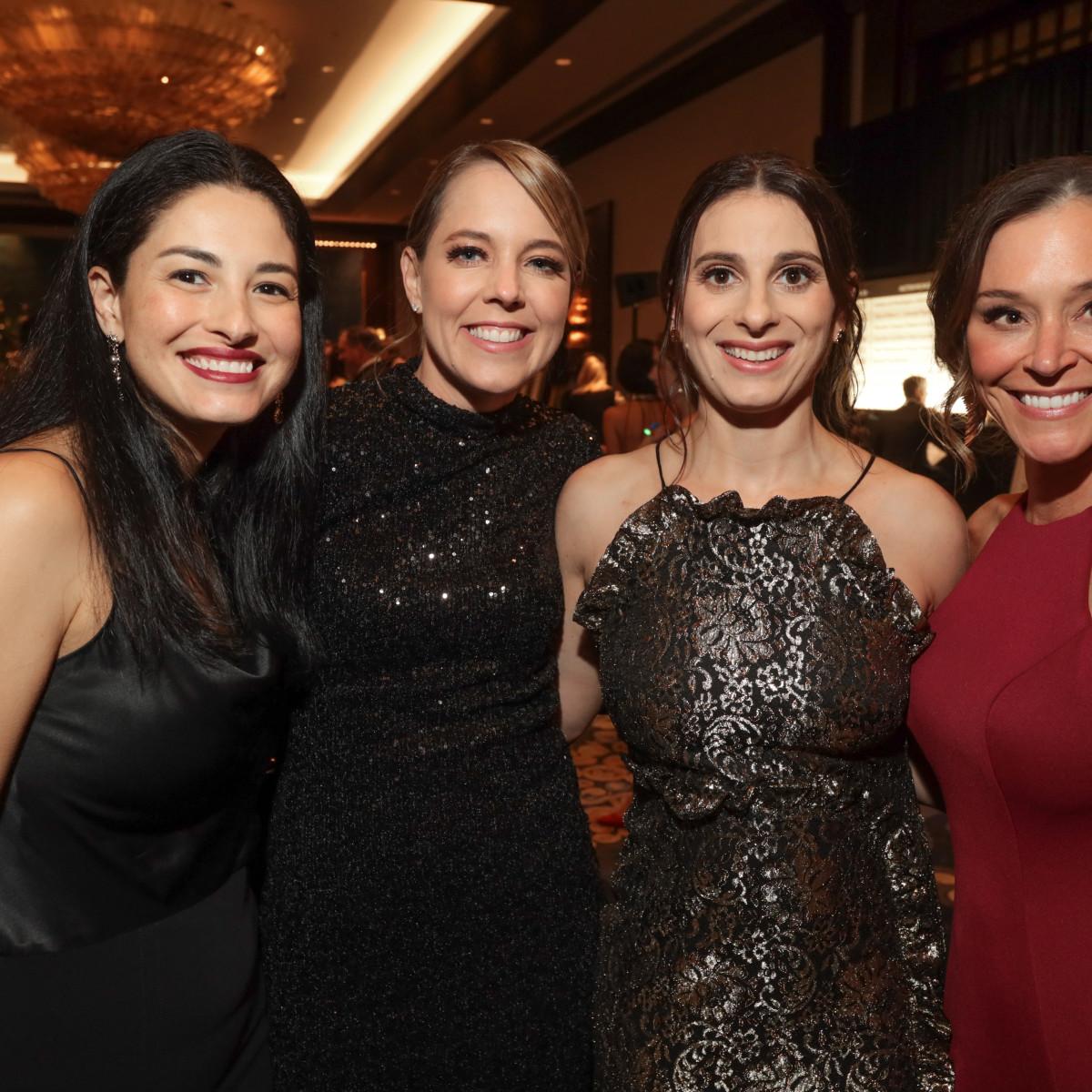 West U Park Lover's Ball 2020 Monica Heyne, Caitlin Pickard, Tatianna Yale, and Kimberly Eads