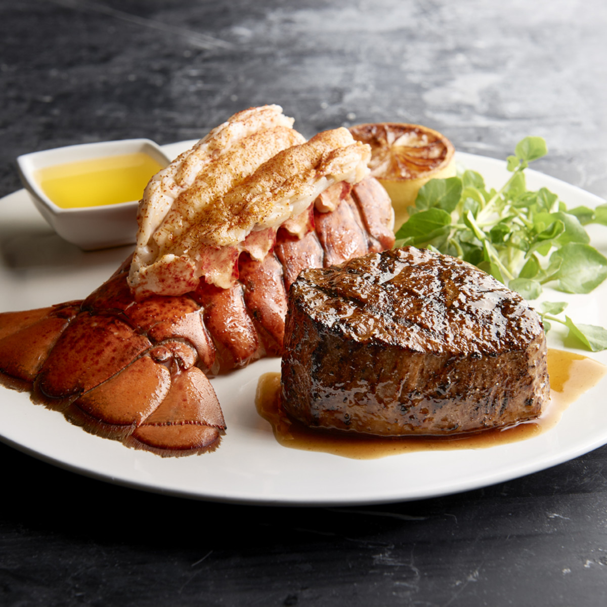 Morton's steak and lobster tail