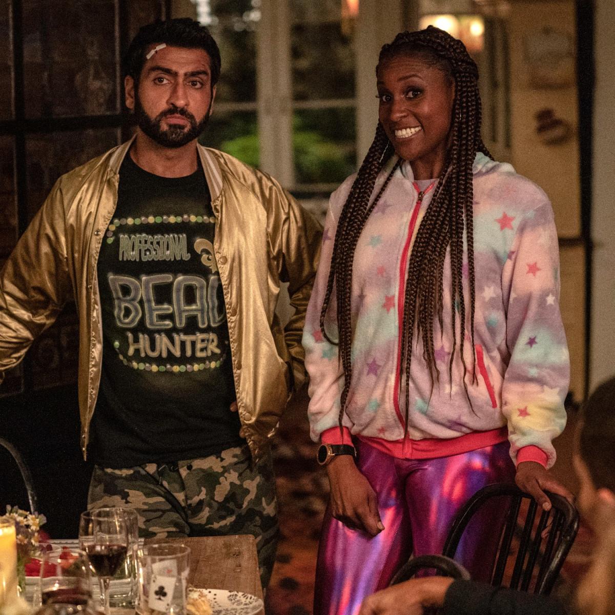Kumail Nanjiani and Issa Rae in The Lovebirds
