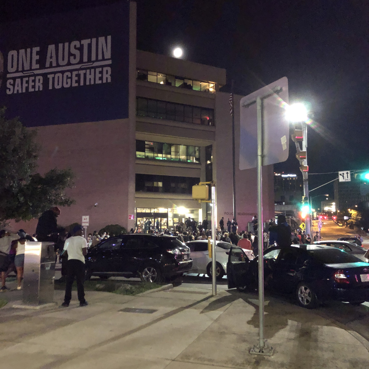 Austin protests friday night apd headquarters