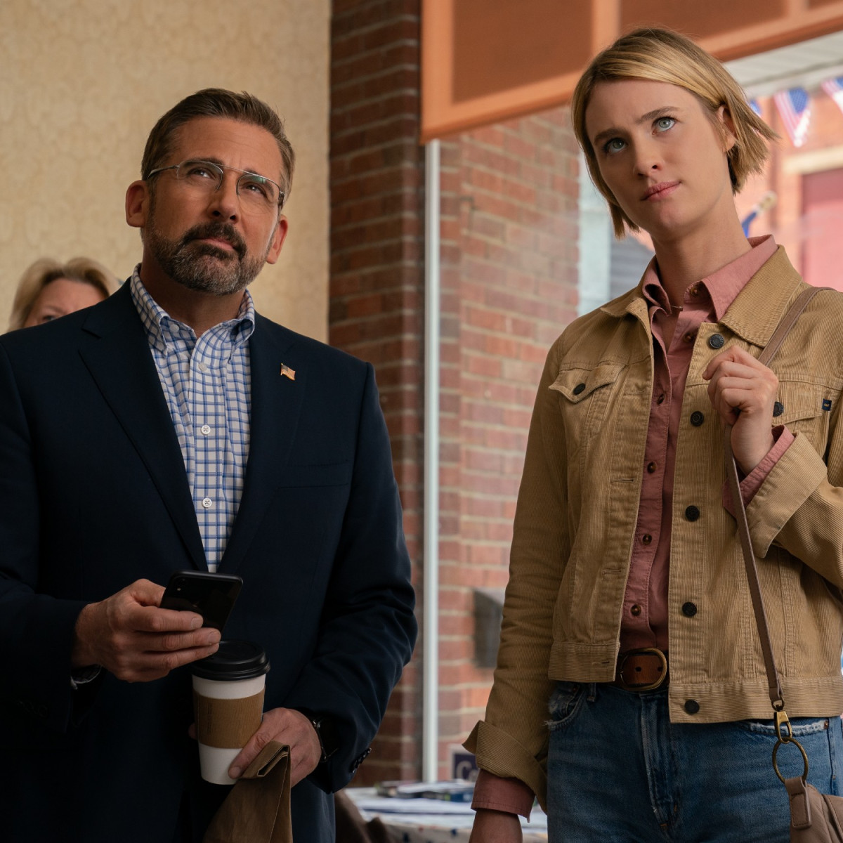 Steve Carell and Mackenzie Davis in Irresistible