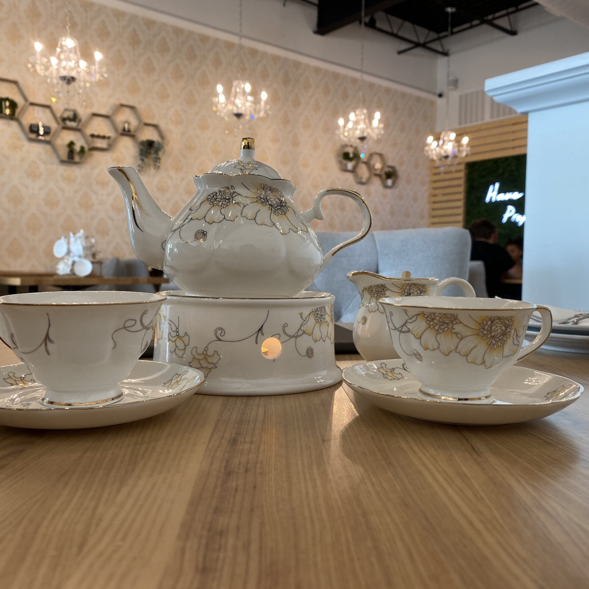 Proper Rose Garden tea set