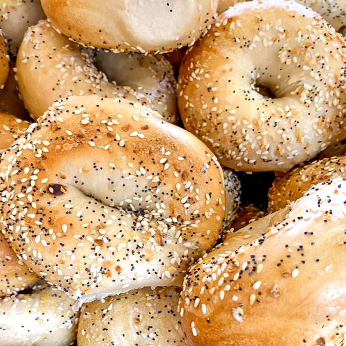 NY Deli coffee shop sesame bagels