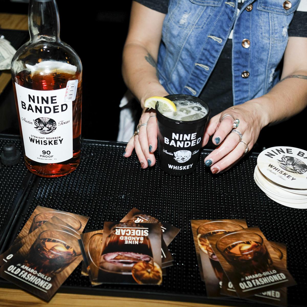 Nine Banded Whiskey bartender