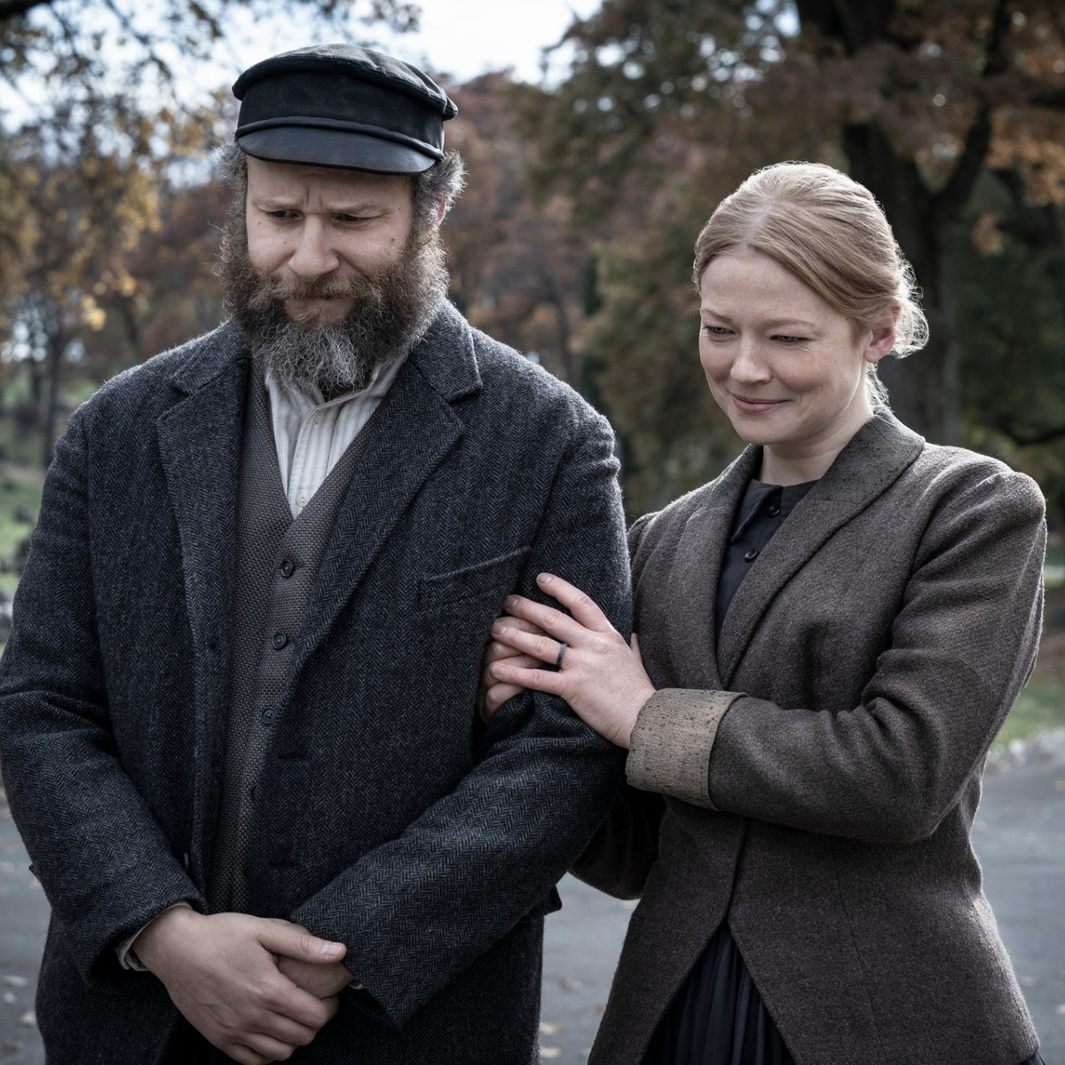 Seth Rogen and Sarah Snook in An American Pickle