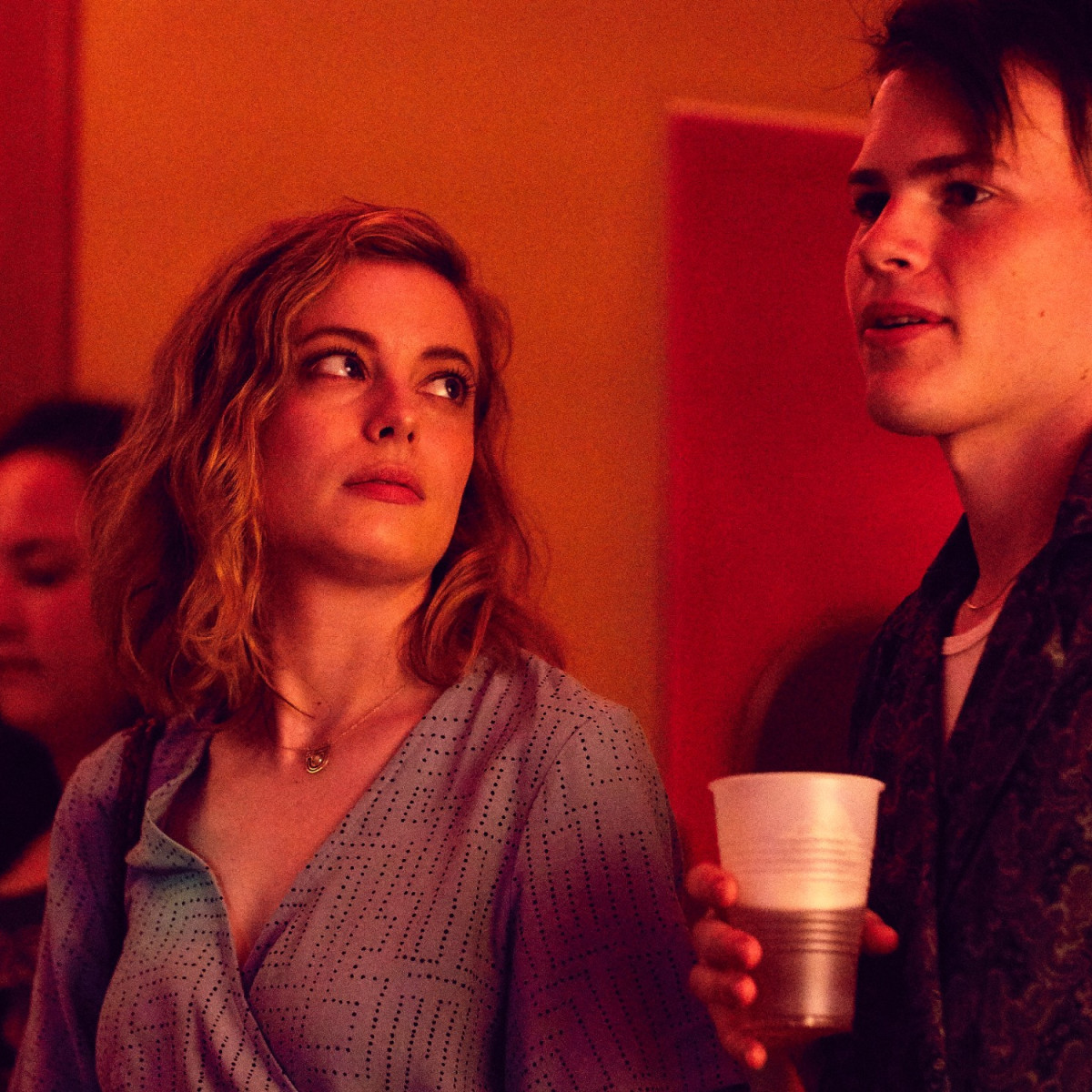 Gillian Jacobs and Josh Wiggins in I Used to Go Here
