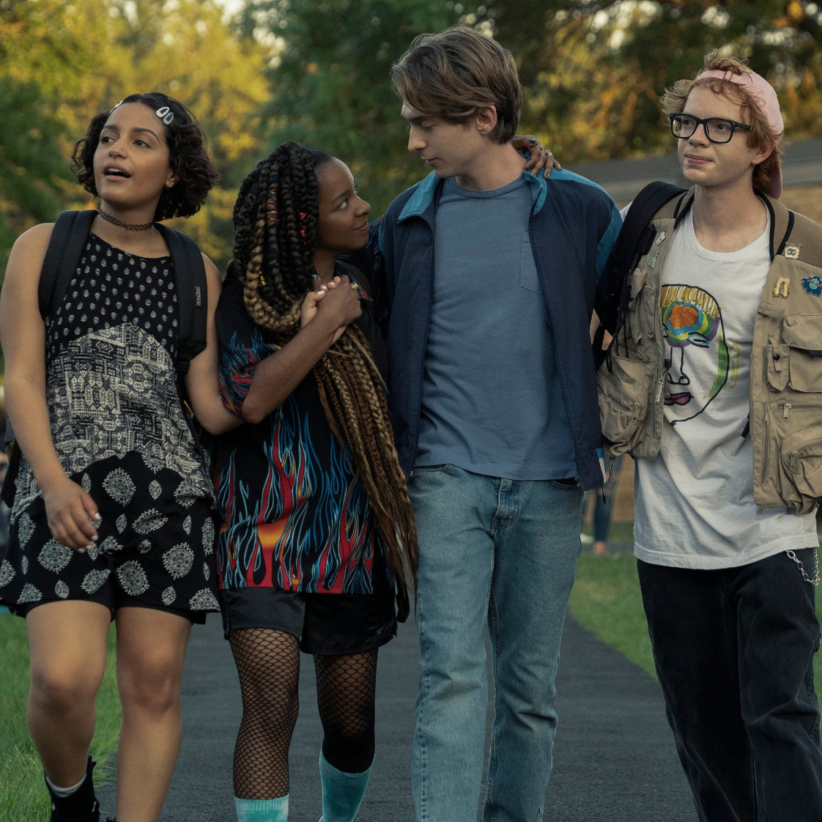 Coral Peña, Kara Young, Austin Abrams, and C.J. Hoff in Chemical Hearts