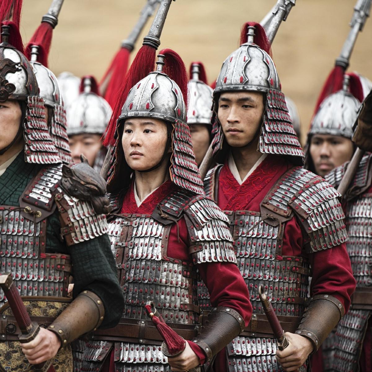 Yifei Liu and Yoson An in Mulan