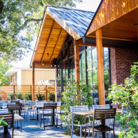 Houston, hunky dory restaurant, october 2015, patio