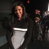 Renee Elise Goldsberry at Prabal Gurung runway show at New York Fashion Week