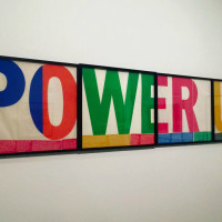 Corita Kent Power Up art Language of Pop exhibit