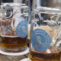 Mugs of Beer at Banger's during Oktoberfest