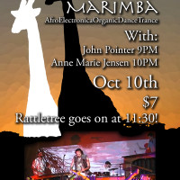 Rattletree Marimba at one 2 one bar flyer