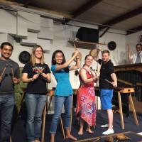 Rattletree school of Marimba with students