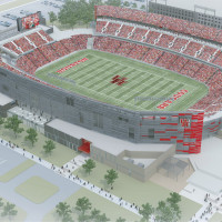 University of Houston new stadium rendering
