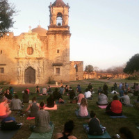 Yoga at San Antonio Missions National Historical Park