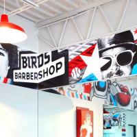 Birds Barbershop Inside Sign