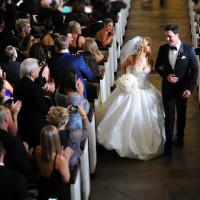 Houston, Chita Johnson wedding, June 2016, bride and groom down the aisle