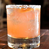 Houston, The Moonshiners Southern Tables + Bar, July 2015, strawberry moonshine