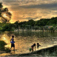 Austin Photo Set: News_Peter Lewis_Swimming Holes_blue hole_georgetown_june 2011_mark porter