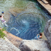 Austin Photo Set: News_Peter Lewis_Swimming Holes_jacob's well wimberley_june 2011_richard alexander