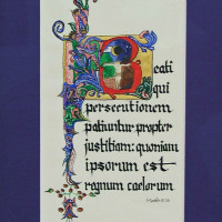 San Antonio in Calligraphic Art
