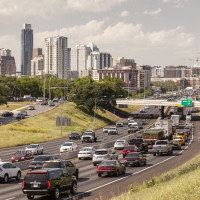 Downtown Austin rush hour traffic
