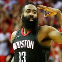 James Harden three sign ok sign game