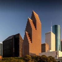 Bank of America center downtown Houston skyline