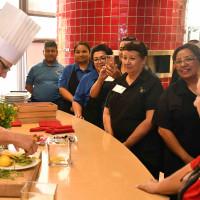 Chef Justin Ward trains San Antonio ISD chefs.