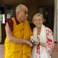 The Dalai Lama and Molly Carroll