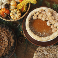 Pie, Thanksgiving table setting