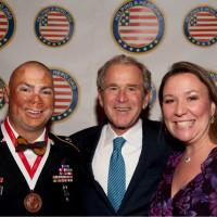 Helping a Hero George W Bush soldier
