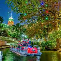 San Antonio River Walk Christmas holiday boat