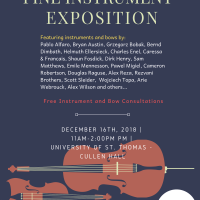 Winter 2018 Instrument Exhibition