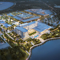 Katy Boardwalk District rendering lakefront