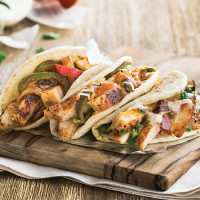 Taco Cabana chicken tacos