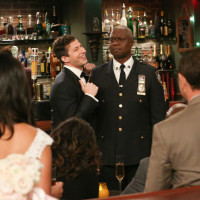 Andy Samberg and Andre Braugher in Brooklyn Nine-Nine