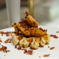 Press Waffle Co. chicken and waffles