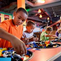 Legoland Discovery Center mom girl playing legos blocks