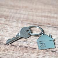 house key on a keychain