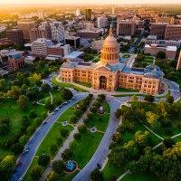 Austin Texas State Capitol aerial