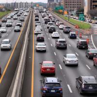 Traffic jam I-35 Austin