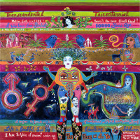 """""""Transcendental Tricentennial: Love Letters to San Anto, The (he)ART of David Zamora Casas"""" opening reception"""