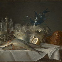 Anne Vallayer-Coster, Still Life with Mackerel, Kimbell Art Museum