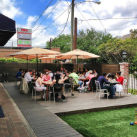Brooklyn Athletic Club patio with diners day