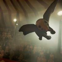 Dumbo flying in Dumbo