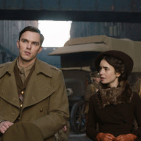 Nicholas Hoult and Lily Collins in Tolkien