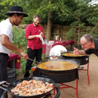 Paella Night in the Garden