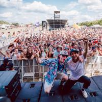 float fest concert band crowd stage blunt force